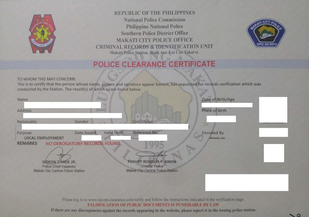 Police Clearance in Makati City (2019 Guide) | UrbanFilipino